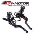 """GT Motor-Negro 7/8 """"adelin freno delantero embrague hidráulico cilindro maestro palanca para honda fz6 r1 r6 gsxr600 750 1000 zx-6r z800"""