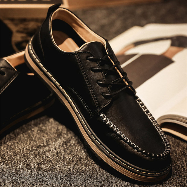 Brand Big Sizes Genuine Leather Fashion Men Shoes Handmade Summer Brand High Quality Men Flats Shoes