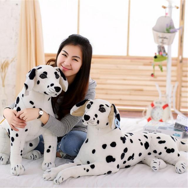 Fancytrader grand peluche douce en peluche simulé Animal dalmatiens chien jouet géant réaliste chien décoration grands enfants cadeau 35 pouces