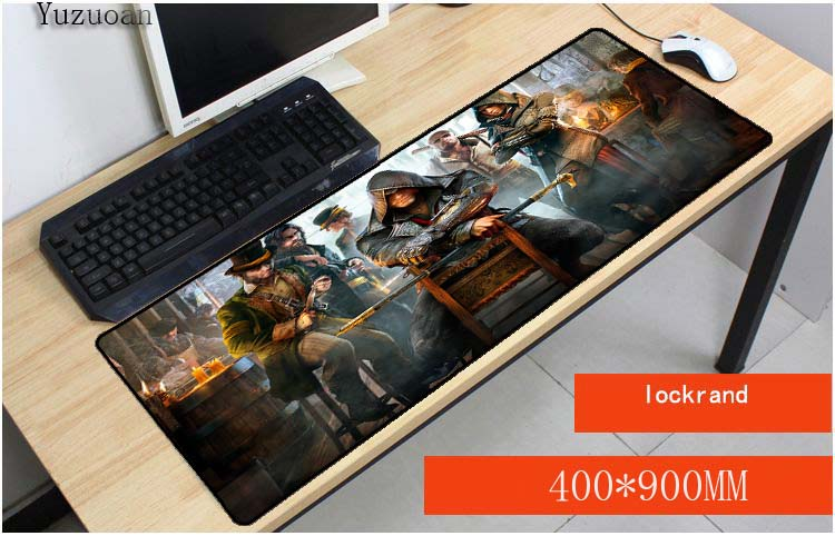 Yuzuoan Free Shipping Large Overlock For Optical Mouse Pad Assassins Creed Origins 400X900X3Mm Brand Gaming Mousepads As Gift