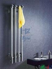 Купить с кэшбэком stainless steel bathroom towel rack holder heated towel rail towel holder Toallero Calefactor Electrico 914-2