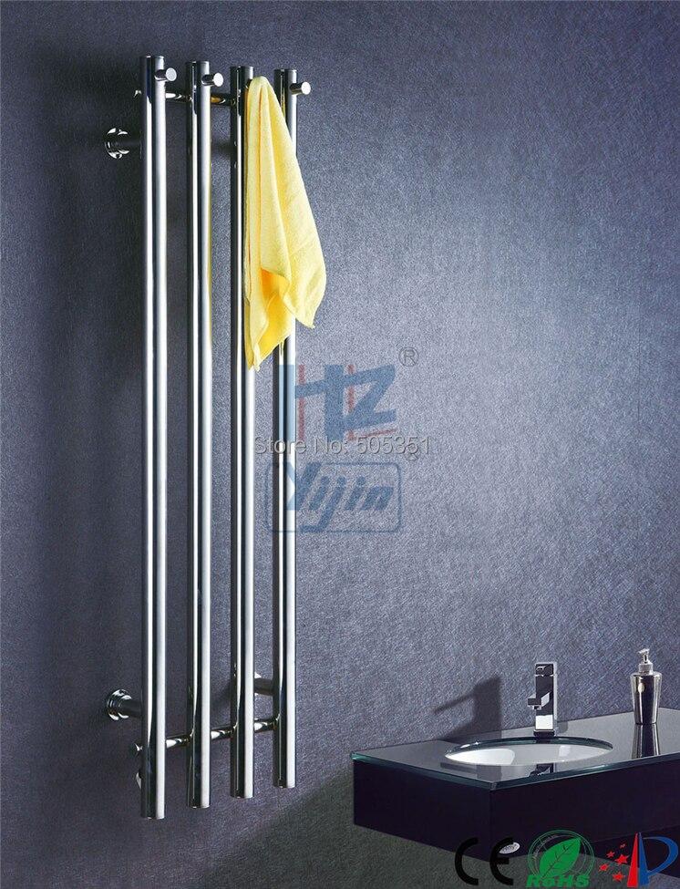 2018 Popaular acier inoxydable 304 Vertical porte-serviette chauffant Chauffe-Serviettes Mur Monté HZ-932A