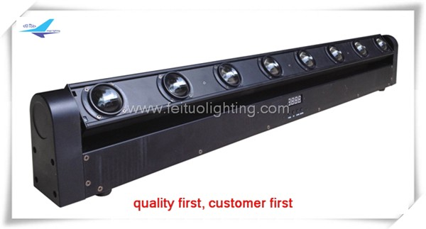 8X10W 4 in 1 rgbw or amber led light bar