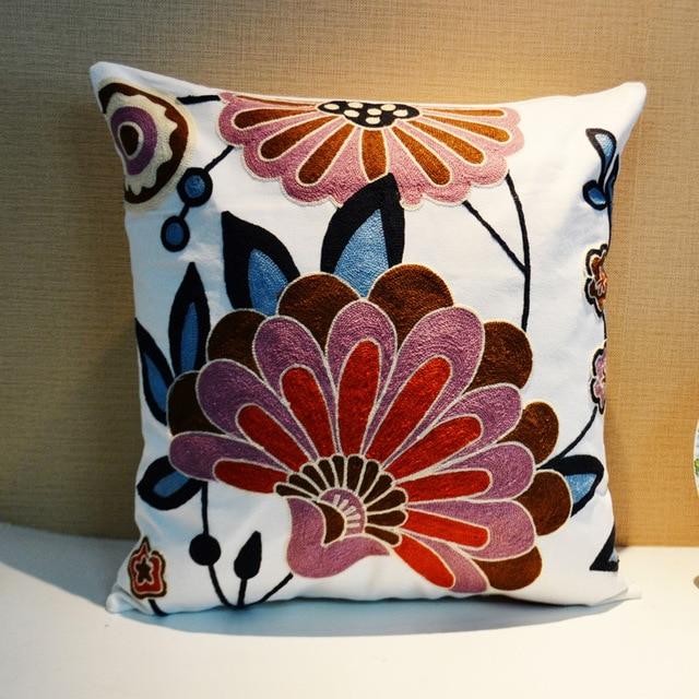 35 Patrones 45*45 cm Tela de Algodón Bordado de Flores/Decorativo ...