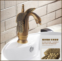 Health sanitary ware Swan antique bathroom basin tap with top quality solid brass bathroom basin mixer taps