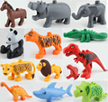 2016 Nueva Original Animales Grandes Bloques de Construcción de Juguetes De Piezas Accesorios Colección Modelo Animal Ladrillos Compatibles Legoe Duploe