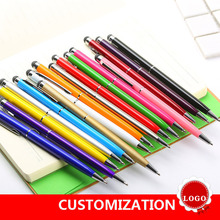 FGHGF 1pcs 7 color novel Multifunctional Ballpoint Pen Touch Screen Metal Gift Tool School office supplie stationery pen