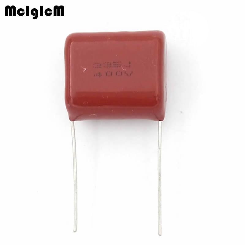 MCIGICM 200 pcs 3 3uF 335 400V CBB Polypropylene film capacitor pitch 20mm 335 3 3uF