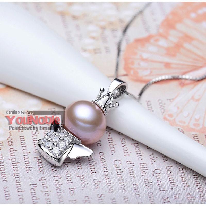 Real Hermosa perla de agua dulce colgante de plata 925, joyería de - Joyas - foto 3