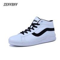 Zenvbnv новый осень 2017 г. мужская кожаная обувь высокого качества модные повседневные мужские ботинки удобные массажные человек Высокий Верх Б...