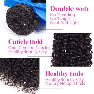 Image 5 - Жарин кудрявые волосы человеческие волосы 4 пряди индийские волосы для наращивания 8 26 дюймов натуральный цвет волосы remy 1B Бесплатная доставка UPS/DHL