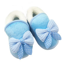 Toddler Infant Newborn Girls Princess Shoes First Walkers Bowknot Shoes Baby Soft Sole Boots Prewalker Winter Warm Sneaker #N8(China)