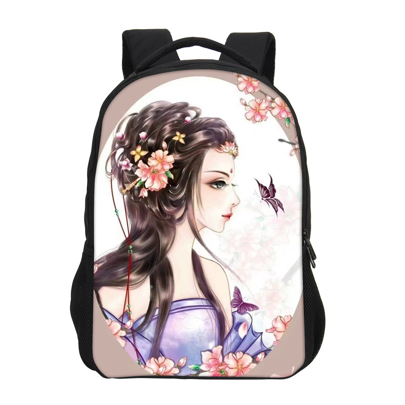 VEEVANV Brand Backpack For Grils Fashion 3D Anime Cartoon Printing Backpack Children Shoulder Bag Casual Daily Backpack Mochila