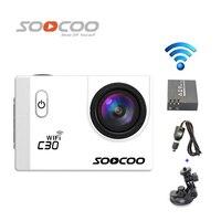 Free Shipping SOOCOO C30 Wifi 2K Gyro 2 0 LCD NTK96660 Diving 30M Waterproof Sport Camera