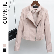 GUMNHU 2019 New Autumn Winter Coat Jackets for Women Long Sleeve Short Style Fashion