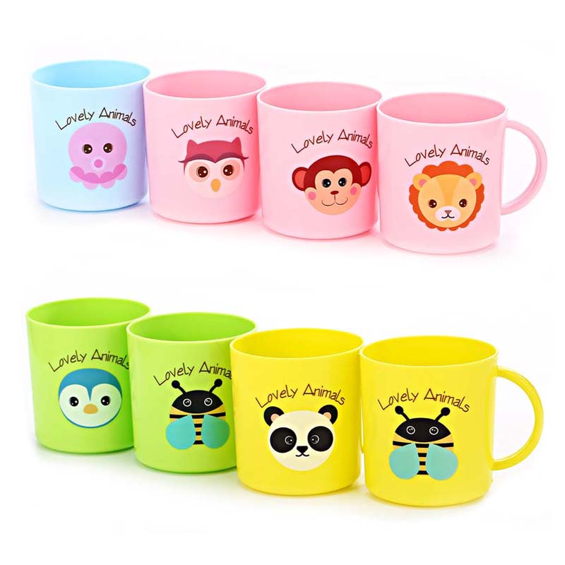 2Pcs 250ml Baby Kids Milk Cup  Children Cartoon Creative Drink Water Cups Baby Training Learn Drink Juice Cup Кубок