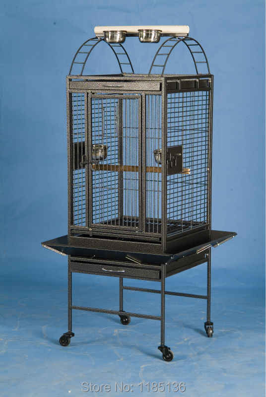 Popular High Quality Large Parrot Macaw Canary Finch Breeding Bird Metal Cage Black Vein Color B62X