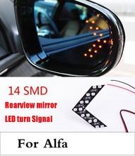 new 14SMD Lamp Arrow Panel Car Rear View Mirror Turn Signal Light For Alfa Romeo Disco
