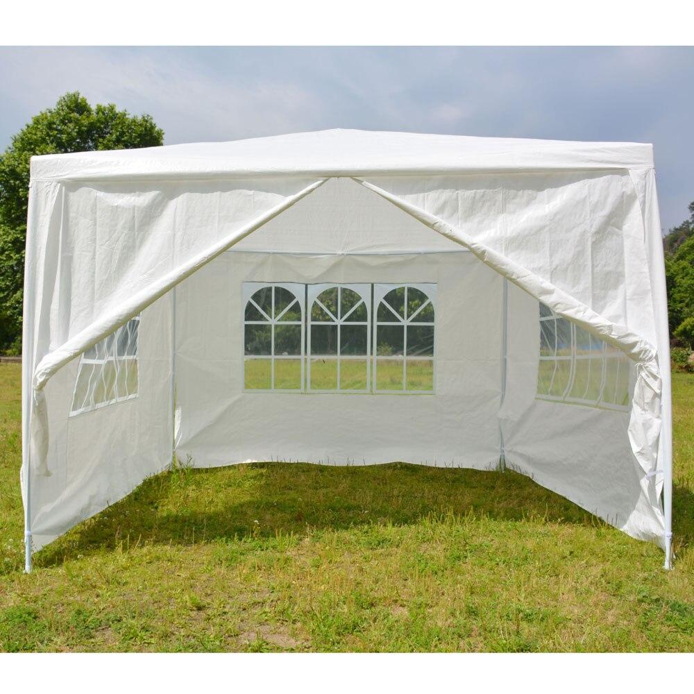 Tente imperméable portative d'utilisation à la maison de 3x3 m quatre côtés avec des Tubes en spirale blanc pour le Parking de noce de ménage