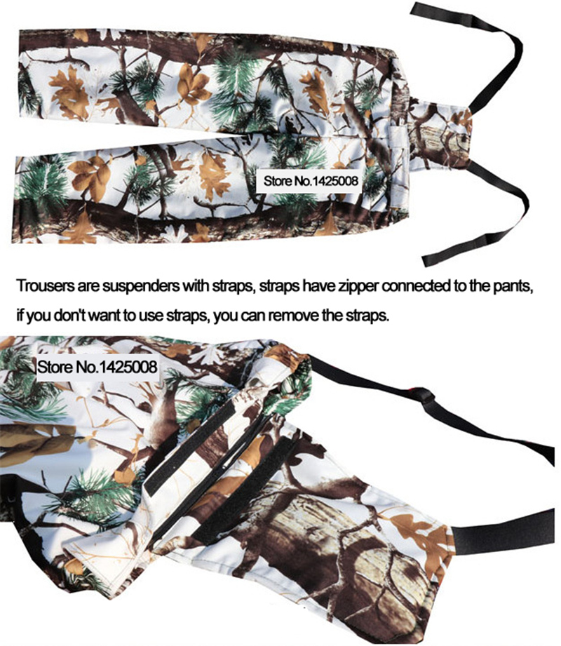 Image 4 - Cold Weather Thicken Lining Fleece Pine camouflage Snow Bionic  Hunting Coat Jacket and trousers Winter Waterproof Ghillie SuitsHunting  Coats