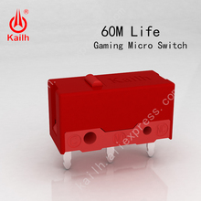 8pcs Kailh micro switch 60M life  gaming mouse Micro Switch 3 Pin red dot used on computer mice left right button MI126601D01 5pcs pack 100% original omron mouse micro switch mouse button blue dot for anywhere mx mouse logitech m905 replacement zip