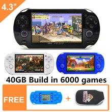 Новинка 43 дюйма 64 бит 40 ГБ портативная игровая консоль Встроенная