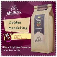 Свежеиспеченный mandeling сегодня! зернах, зерен кофейных высококачественные золотые органический только кофе