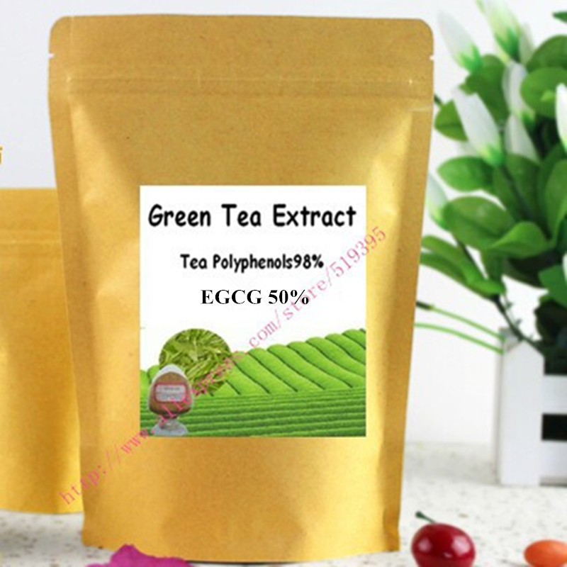 17.6oz (500g) Green Tea Extract 98% Total Polyphenols Powder Antioxidant & Free Radical Scavenger 500g good price clove extract powder