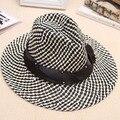 Nueva mujer del verano ocasional del sol playa sombrero para hombres mujeres amantes par de grandes viajes de ala ancha de paja sombrero de vaquero del Sombrero Del jazz topper D3452