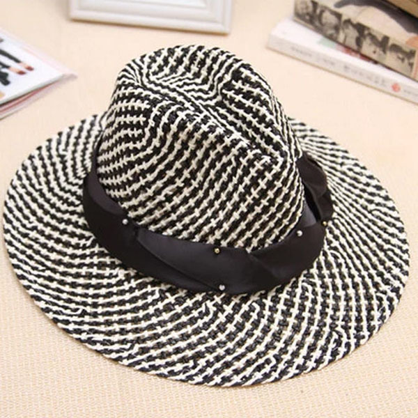 1e135a420ef9a0 new female summer casual beach sun hat for men women lovers couple large  brimmed travel straw hat jazz cowboy Hat topper D3452-in Sun Hats from  Women's ...