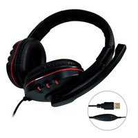 Headset Gamer Gaming Headset USB 2 0 Leather Computer Headphones With Microphone 2m For Sony PC