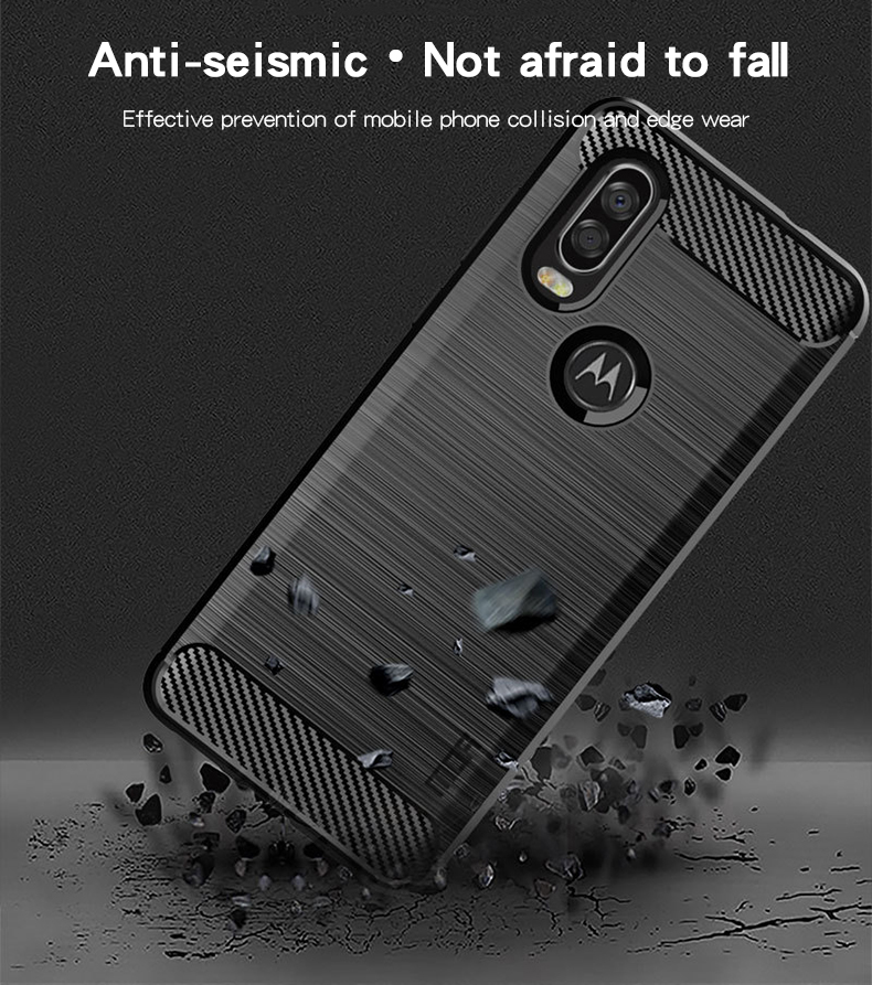 MOFi For Motorola MOTO P40 Case Luxury Carbon Fiber Anti drop TPU Soft Cover Cases For Motorola MOTO P40 Back Cover in Fitted Cases from Cellphones Telecommunications