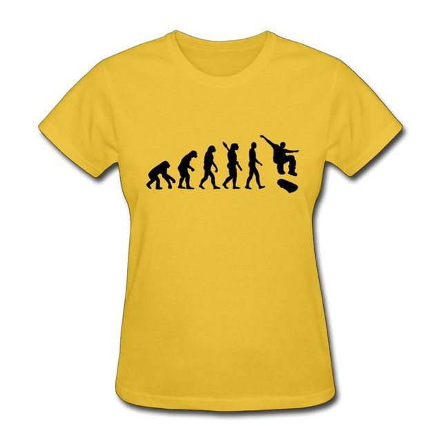 Brand New Short Sleeve Womens T Shirt Evolution Skateboard Design ...