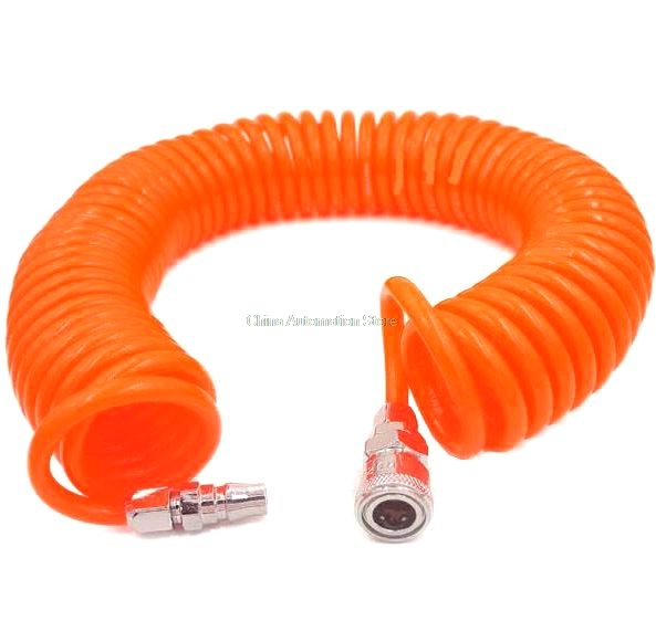 12M 29.5 Ft 8mm x 5mm Flexible PU Recoil Hose Tube for Compressor Air Tool 12m 39 ft 8mm x 5mm polyurethane pu recoil air compressor hose tube orange red free shipping