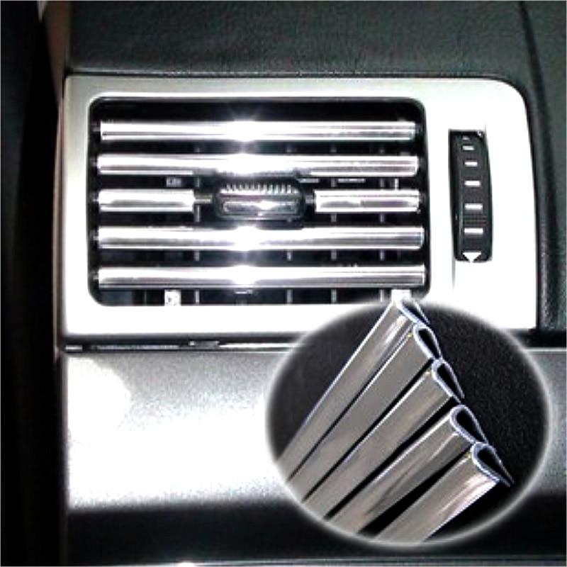 buy 4m u style diy car interior air conditioner outlet vent grille chrome. Black Bedroom Furniture Sets. Home Design Ideas