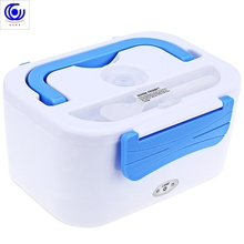 12V Car Multi-functional Double-deck Insulated electric heating Lunch Box Heat Preservation Apart Type food warmer  containers cp 33 heat preservation stainless steel electric heating lunch box w egg tray spoon white