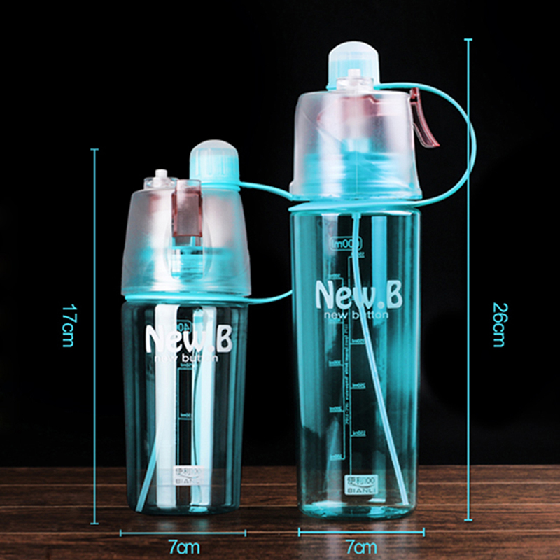 400ML/600ML Water Bottle Spray Bottle Space Leak Proof Moisturizing Cycling Portable Outdoor Drinking Bottles LM76