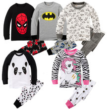 Girls Horse Pajamas Kids Zebra Sleepwear Children Unicorn Cartoon Clothing Set Baby Long Sleeve Pijamas Home Clothing for Boys(China)