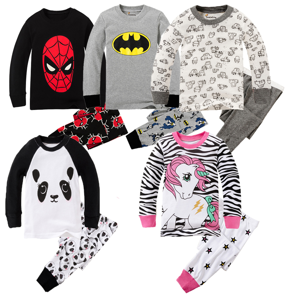 Cartoon Clothing Set Baby Long Sleeve Pijamas Home Clothing for Boys and girls