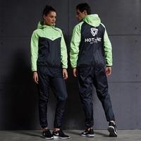 Women Men Running Sets Tracksuit Fitness Hoodies+Pants 2PCS Yoga Sets Sportswear Training Jogging Gym Hot Sweat Sport Suit 4XL