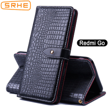 SRHE For Xiaomi Redmi Go Case Cover 5.0 inch Flip Luxury Leather Silicone Wallet With Magnet Holder