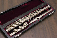 MURAMATSU M 85 C Tune Flute Cupronickel Tube Silver Plated Surface Brand Quality Musical Instrument With Case Free Shipping