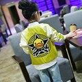 Primavera Chaqueta de la Manera Niños Chaquetas Chicas Ropa Niños Outwear Para El Bebé Ropa de las muchachas de la Cremallera Abrigos Traje 5 7 9 11 13 Años