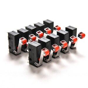 10Pcs/Set Mini 3-Pin Tact Switch KW12-3 5A 250V Round Handle Clock Microswitch