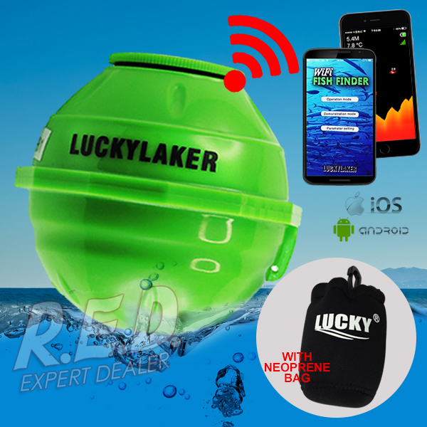 FF-916 LUCKY Wireless Wifi Fish Finder 50M Rechargeable Lithuim Battery 130 FEET (45 Meters) Operation RangeFF-916 LUCKY Wireless Wifi Fish Finder 50M Rechargeable Lithuim Battery 130 FEET (45 Meters) Operation Range