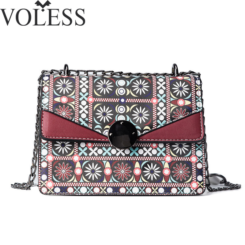 Famous Brand Women Flap Bag Panelled Pu Leather Shoulder Bags Vintage Crossbody Bags For Women Long Chains Messenger Bags feitong famous brand bags for women 2016 fashion floral pu leather shoulder crossbody bag satchel handbag messenger bag bolsos
