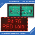 304*152mm 64*32 pixels Indoor F3.75 P4.75 Single Red color SMD2121 LED display module