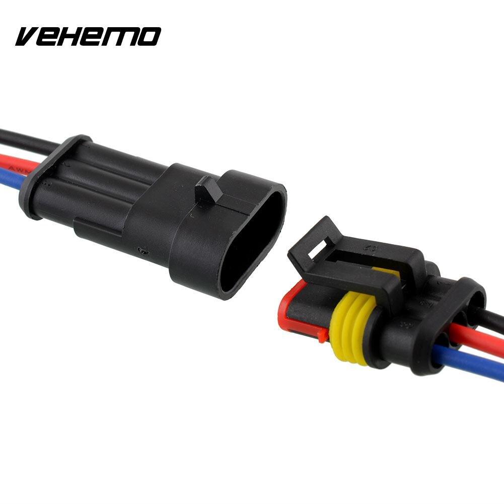 Vehemo Neue 5 Kit 3 Pin Way Auto Fahrzeug Wasserdichte Elektrische ...