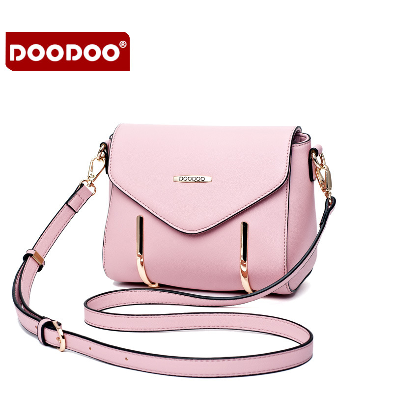DOODOO Famous Brand Design Women Messenger Bags Flap Bag Lady PU Leather Crossbody Shoulder Bags Small Female Handbags sgarr famous brand women messenger bag pu leather small purse fashion pink grey color female crossbody shoulder bags party bags