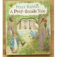 Peter Kaninchen EINEM Peep Innen Tale Englisch Pädagogisches 3D Klappe Bild Bücher Baby Frühen Kindheit geschenk Für Kinder lesen auf
